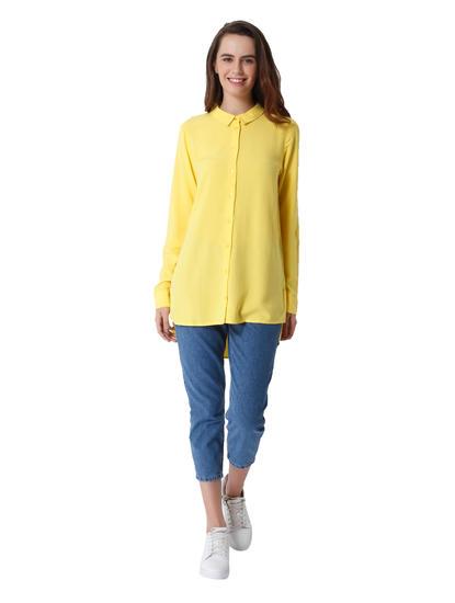 Yellow High Low Shirt