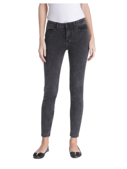 Dark Grey Regular Waist Skinny Fit Jeans