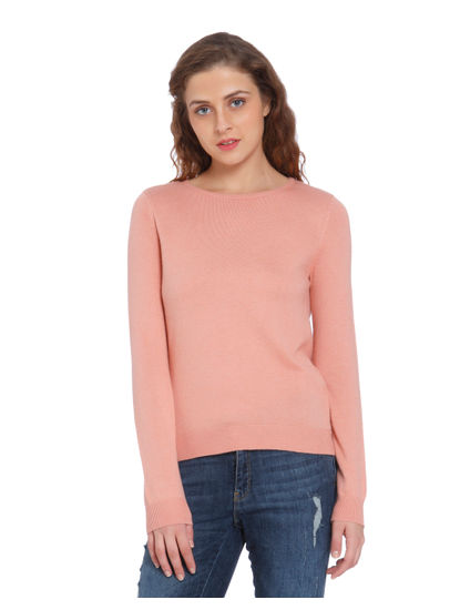 Pink Back Bow Detail Pullover