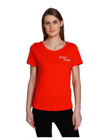 Bright Text Print T-Shirt