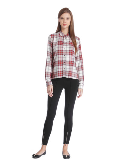 Pink Checkered Full Sleeve Shirt