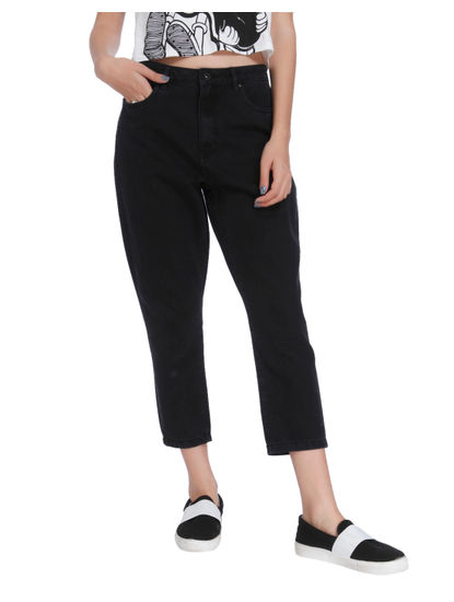 Black High Waist Mom Jeans