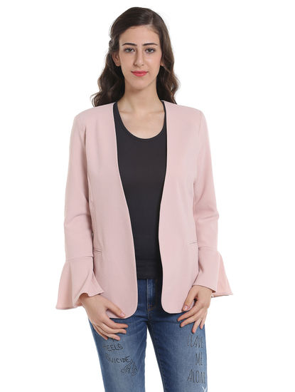 Light Pink Bell Sleeves Blazer