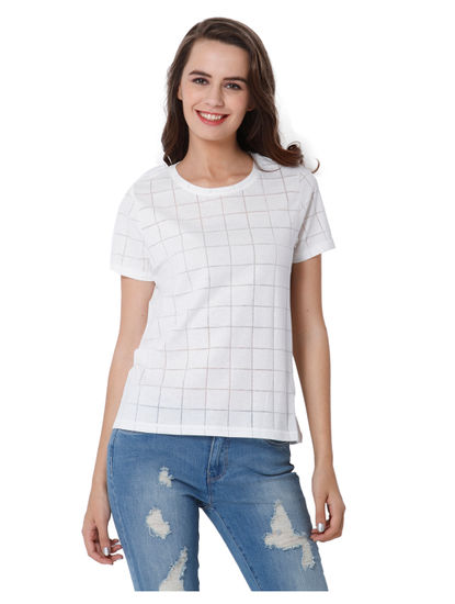 White Check T-Shirt