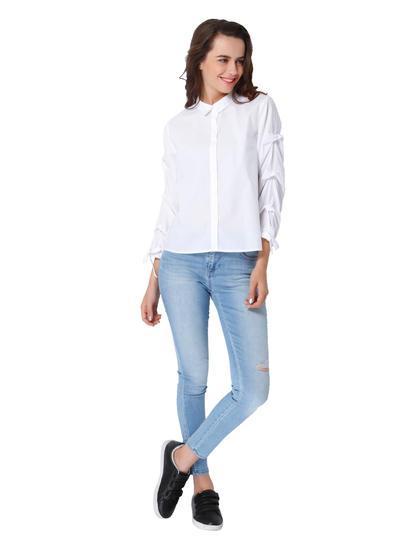 White Billow Shirt