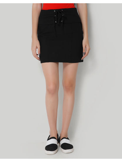 Black Corset Short Skirt