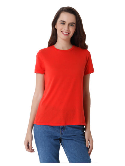 Red Knit T-Shirt