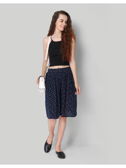 Blue Anchor Print Skirt