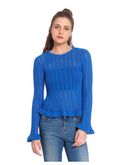 Blue Open Back Pullover