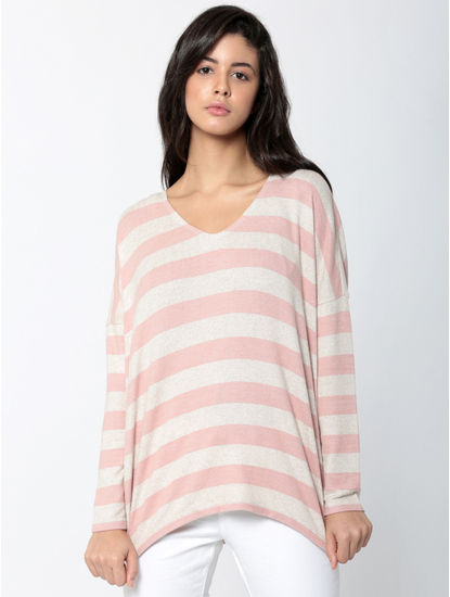 Brown Striped Pullover