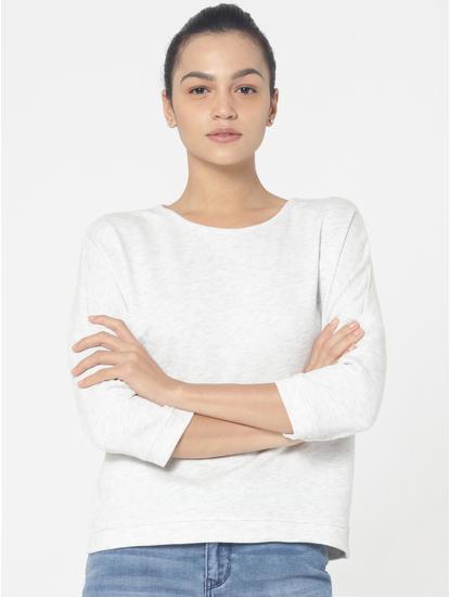 Light Grey Back String Detail Sweatshirt