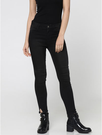 Grey Mid-Rise Ankle Length Skinny Fit Jeans