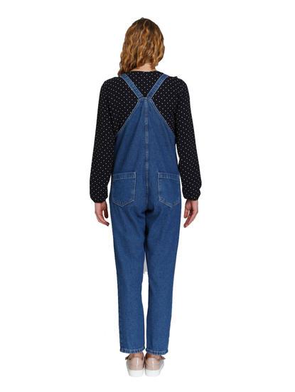Blue Pocket Detail Denim Jumpsuit