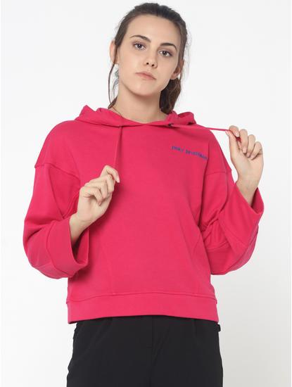 Pink Hooded Sweatshirt