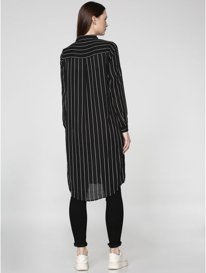 Black Striped Long Shirt