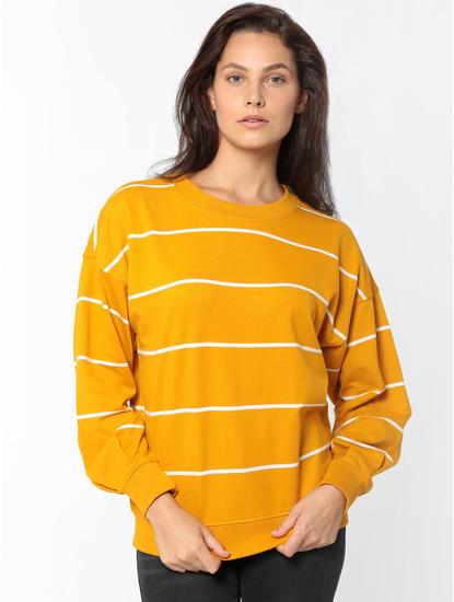 Mustard Striped Sweatshirt
