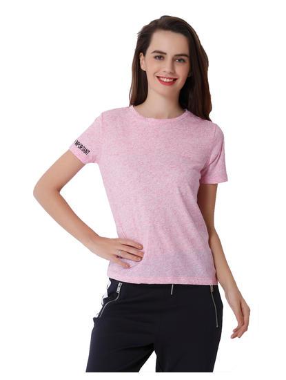 Pink Text Print T-Shirt