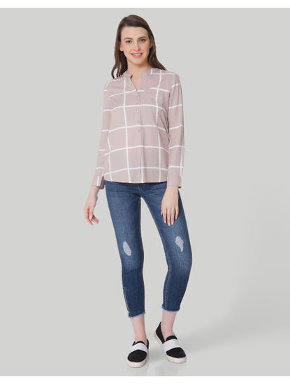 Pale Pink Check Shirt