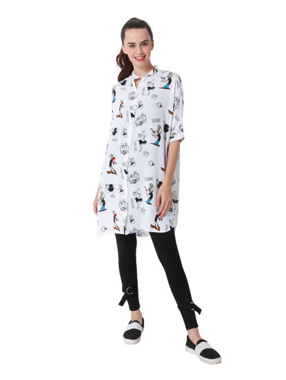 X Popeye All Over Print Long Shirt
