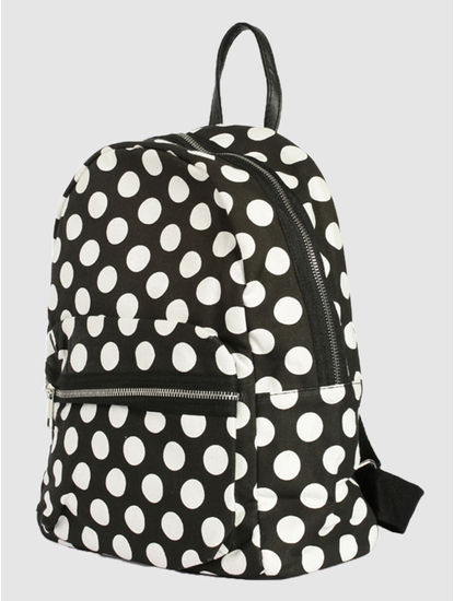 Black Polka Dot Backpack