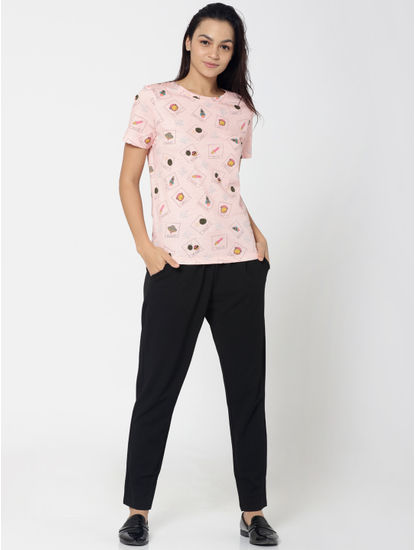 Pink Rocket All Over Print T-Shirt