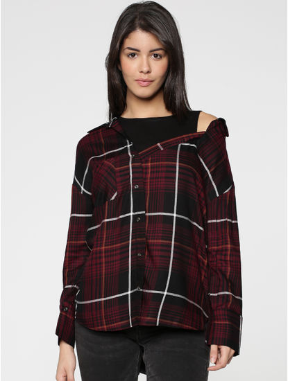 X Harry Potter Brown Check Shirt
