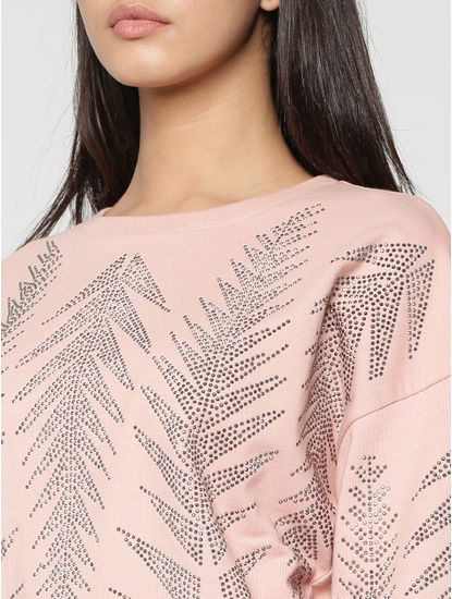 Rose Embellished Sweatshirt