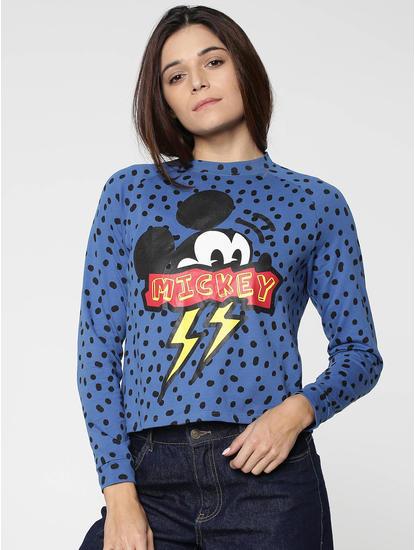 X Mickey Blue Mickey Print Sweatshirt