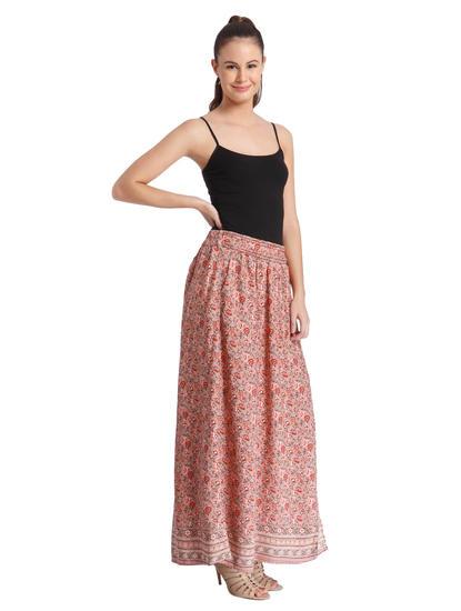 Women Casual All-Over Print Skirt