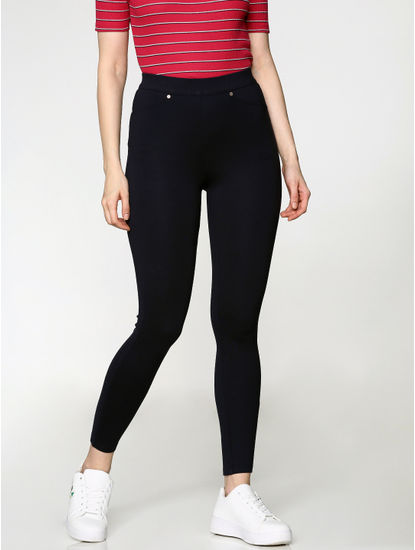 Navy Blue High Rise Skinny Fit Leggings