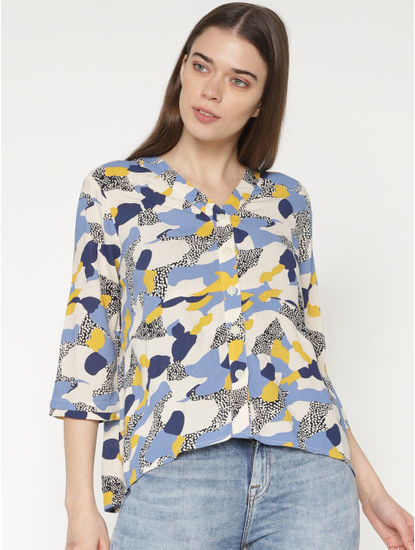 Off-White All Over Multicoloured Abstract Print Shirt