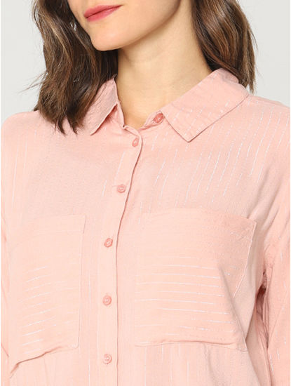 Peach Striped Shirt