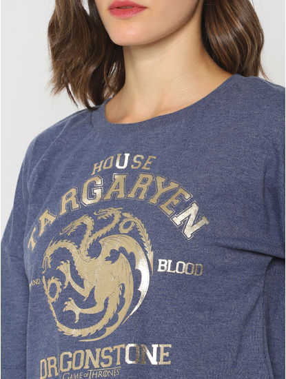 X Got Blue House Targaryen Sweatshirt