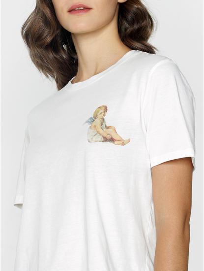 Ft Ananya Panday White Text Print T-Shirt