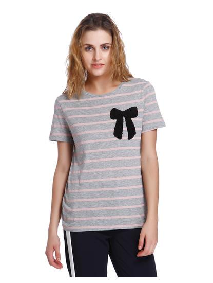 Light Grey Striped T-Shirt