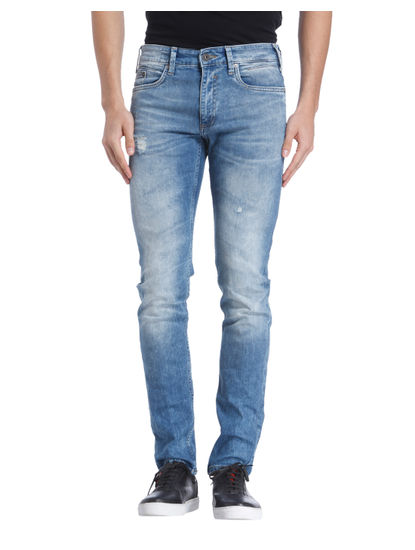 Blue Mild Distressed Jeans