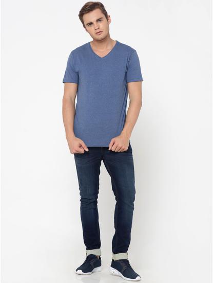 Blue V-Neck T-Shirt