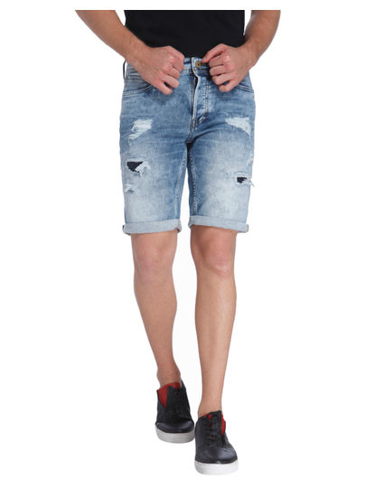 Washed Casual Shorts