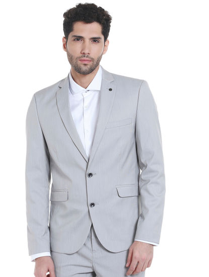 Light Grey Slim Fit Blazer