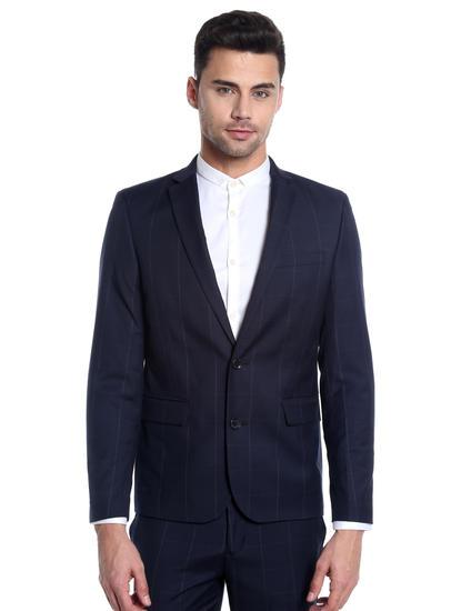 Dark Blue Check Blazer