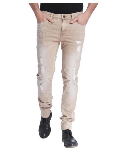 Light Brown Distressed Skinny Jeans