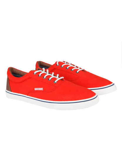 Bright Red Sneakers