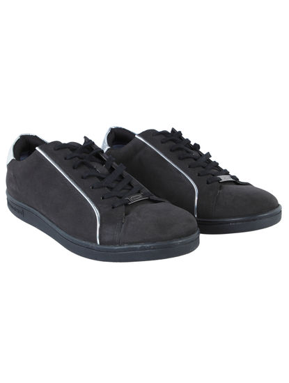 Black & Silver Sneakers