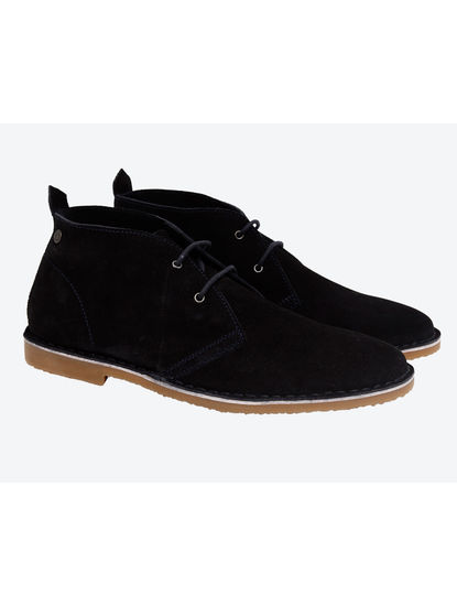 Dark Blue Chukka Boots