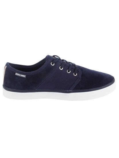 Blue Faux Suede Sneakers