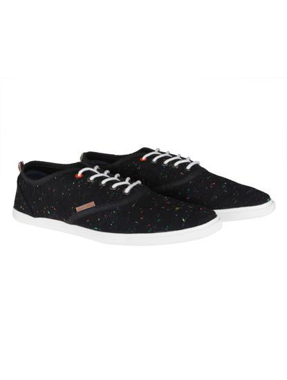 Black Colour Splash Sneakers