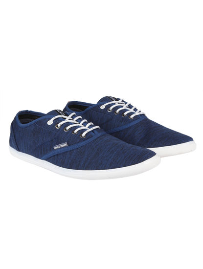 Blue Textured Sneakers
