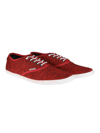 Red Textured Sneakers