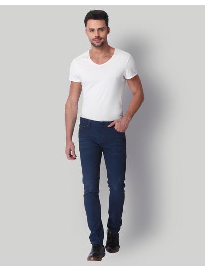 Dark Blue Low Rise Skinny Fit Jeans