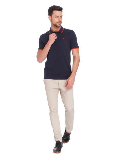 Dark Blue & Orange Polo T-Shirt